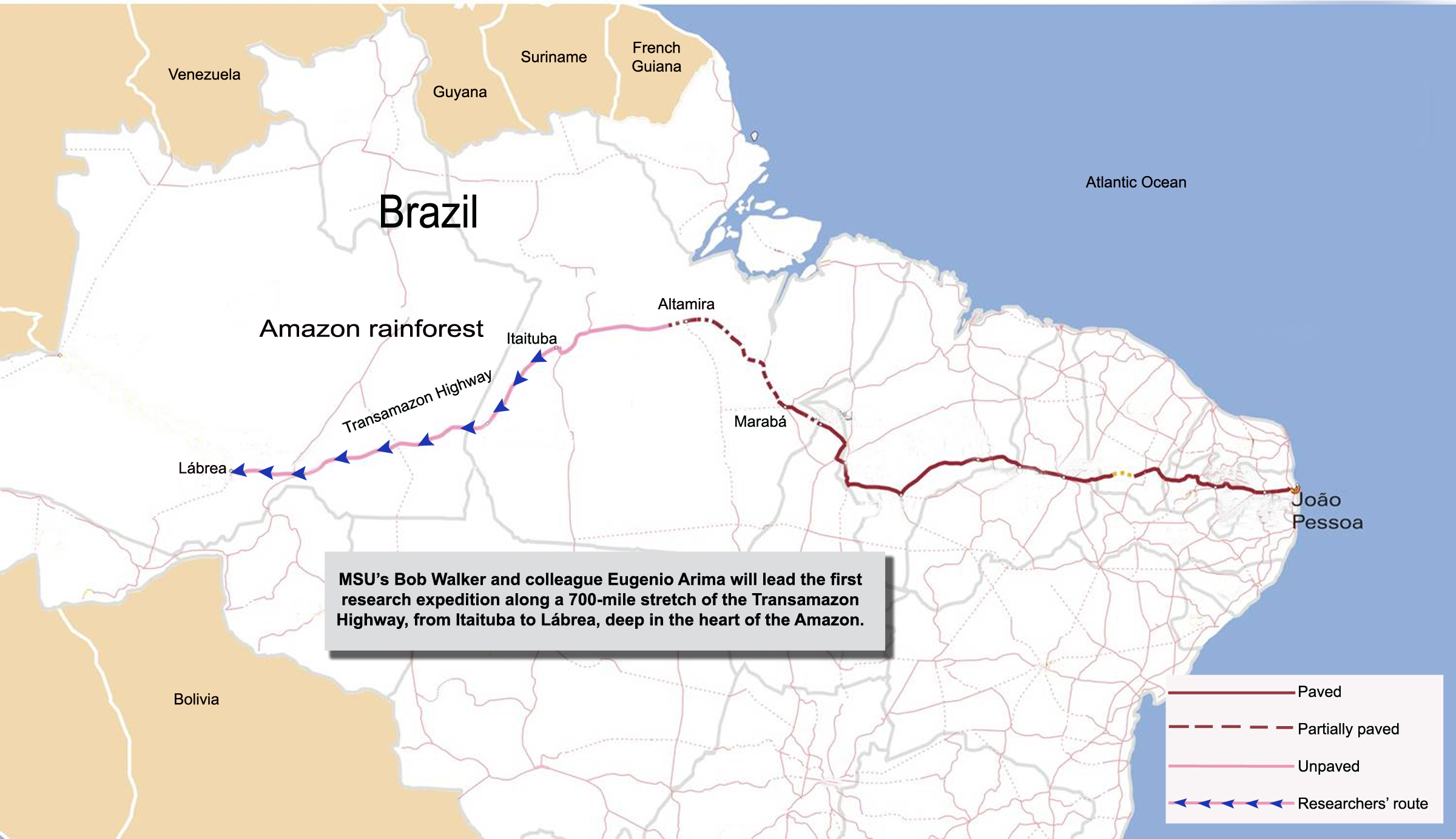 Journey to center of amazons unpaved heart futurity amazon basin view mapconfirmed gumiabroncs Gallery