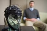 Pontifex with EEG cap